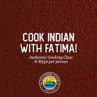 It's a once in a lifetime opportunity to learn the age-old art of cooking Indian. 🍛 Fatima Vaid is opening up her heart and kitchen and will be sharing some of her most-cherished food dishes with a handful of students.⁠⠀ ⁠⠀ Limited classes and spaces available this November! Please email us on hello@dullstroom.tours
