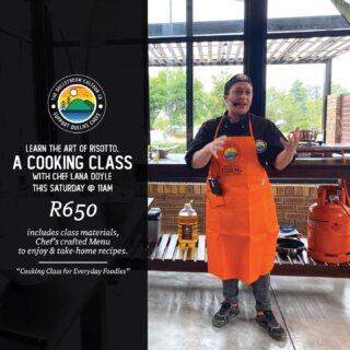 A Cooking Class for Everyday Foodies! 👨‍🍳👨‍🍳 Join us this Saturday 11am for an unforgettable foodie experience as we Learn the art of Risotto with local Chef Lana Doyle! Only R650 per person, including an inspiring chef's-crafted Menu of the day & take-home recipes! Book on hello@dullstroom.tours